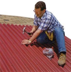 Несколько советов как отремонтировать шиферную крышу