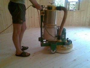 Как шлифовать деревянные полы?