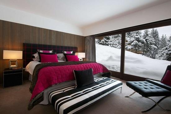 Спальня с видом на горы