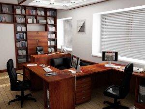 Умело подобранный дизайн маленького офиса