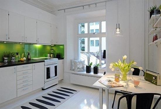 Белоснежный минимализм: оригинальная кухня