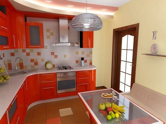Идея дизайна кухни для тех кто любит яркие краски