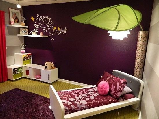 Идея дизайна детской комнаты в стиле фантастического леса