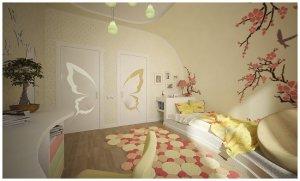 Парящие бабочки в детской комнате