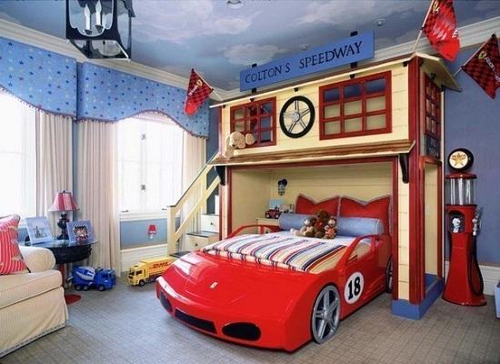 Идея дизайна детской комнаты разработана для будущих чемпионов