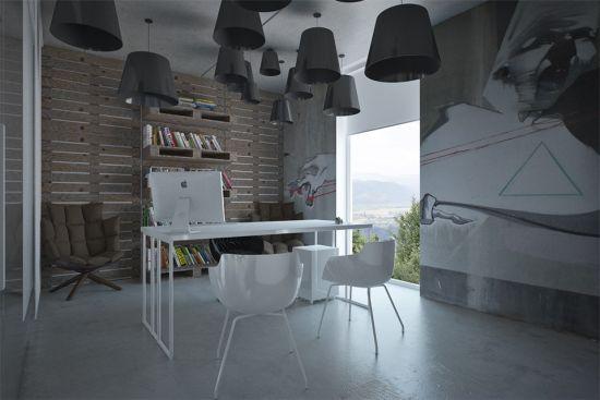 Идея дизайна офиса в уличном стиле