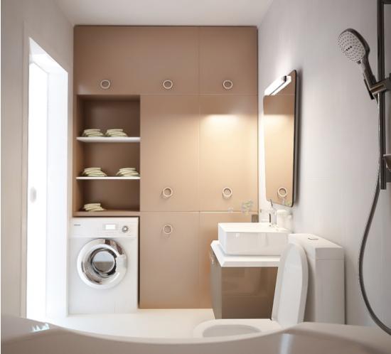 Идея дизайна ванной в стиле минимализм