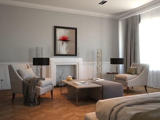 Идея дизайна спальни в современном минимализме