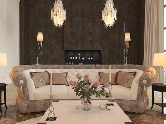 Идея дизайна гостиной в стиле прованс