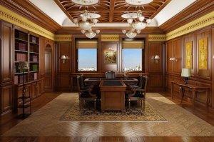 Идея дизайна офиса в консервативном английском стиле