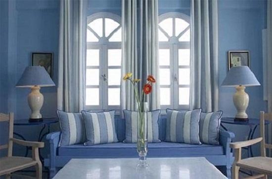 Холодные цвета в интерьере квартиры