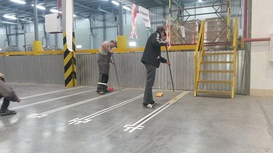 Оснащение современного склада: разметка и особенности ее нанесения