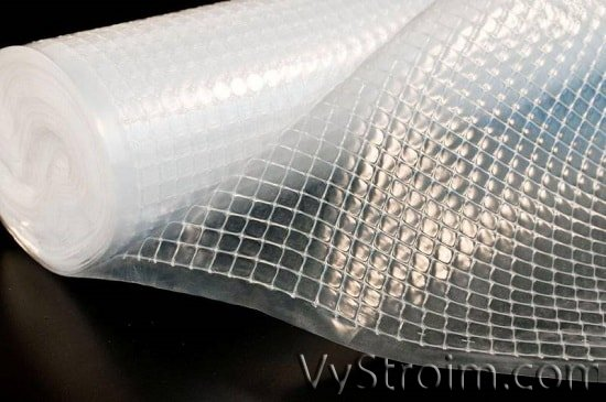 Наружная гидроизоляция подвала с помощью ячеистой пленки
