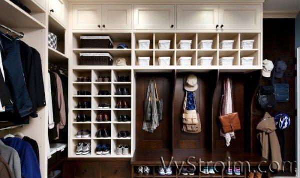 Обустройство гардеробной в прихожей: оригинальные идеи
