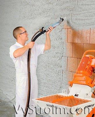 Машинная штукатурка стен: технология нанесения